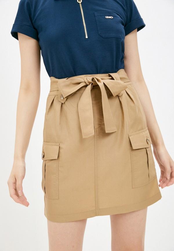женская прямые юбка liu jo, коричневая