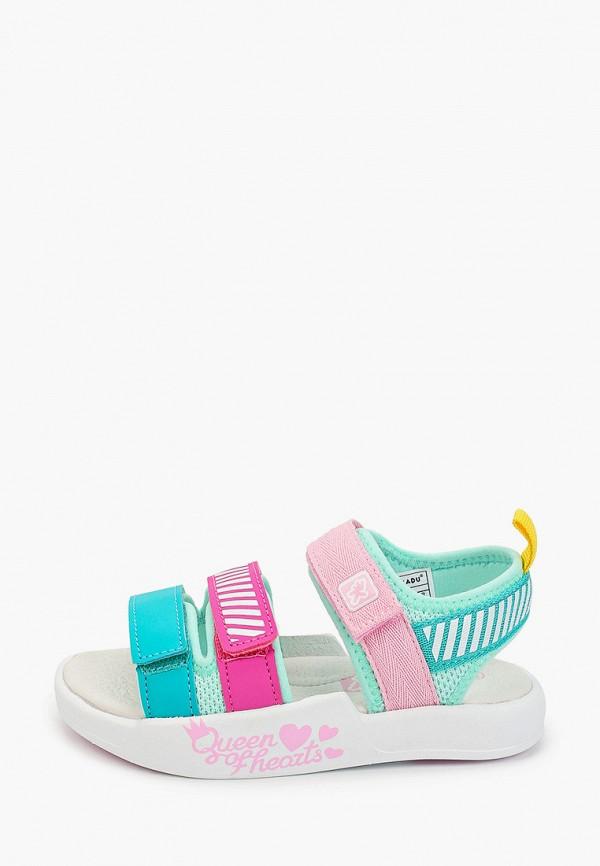 сандалии kakadu для девочки, разноцветные