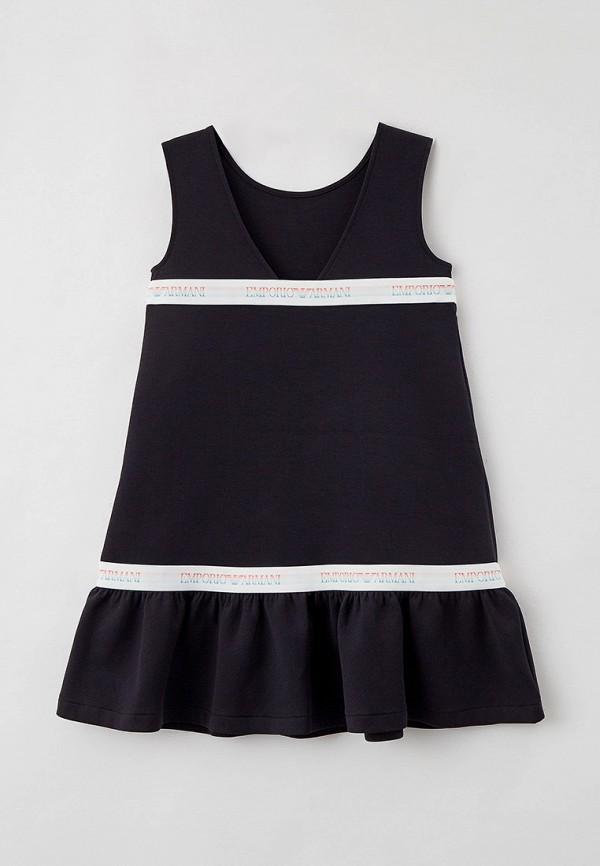 повседневные платье emporio armani для девочки, черное