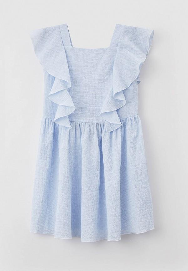повседневные платье emporio armani для девочки, голубое