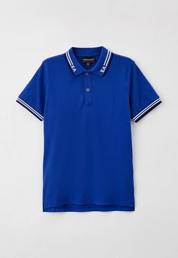 поло emporio armani для мальчика, синее