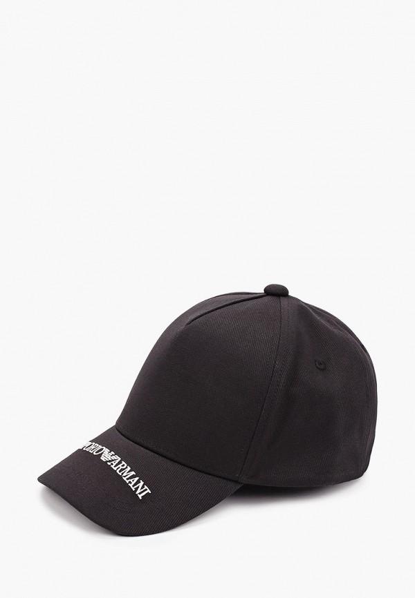 бейсболка emporio armani для мальчика, черная
