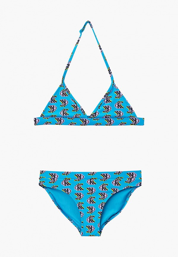 купальник calvin klein для девочки, голубой