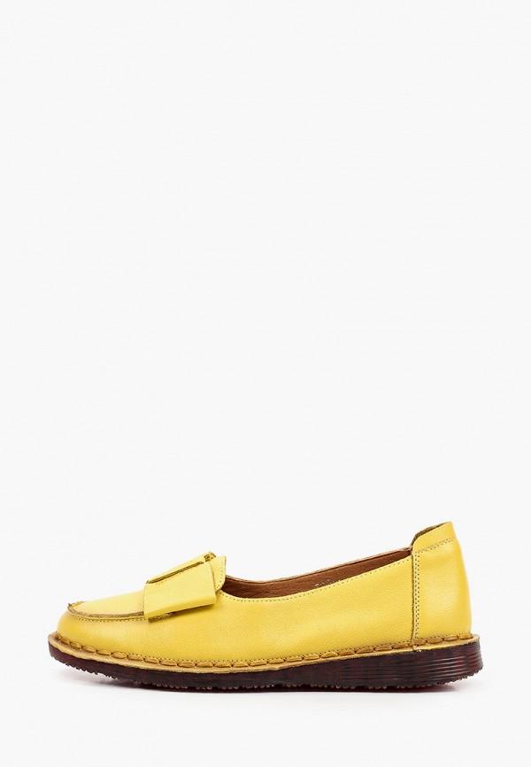 женские лоферы tf's, желтые