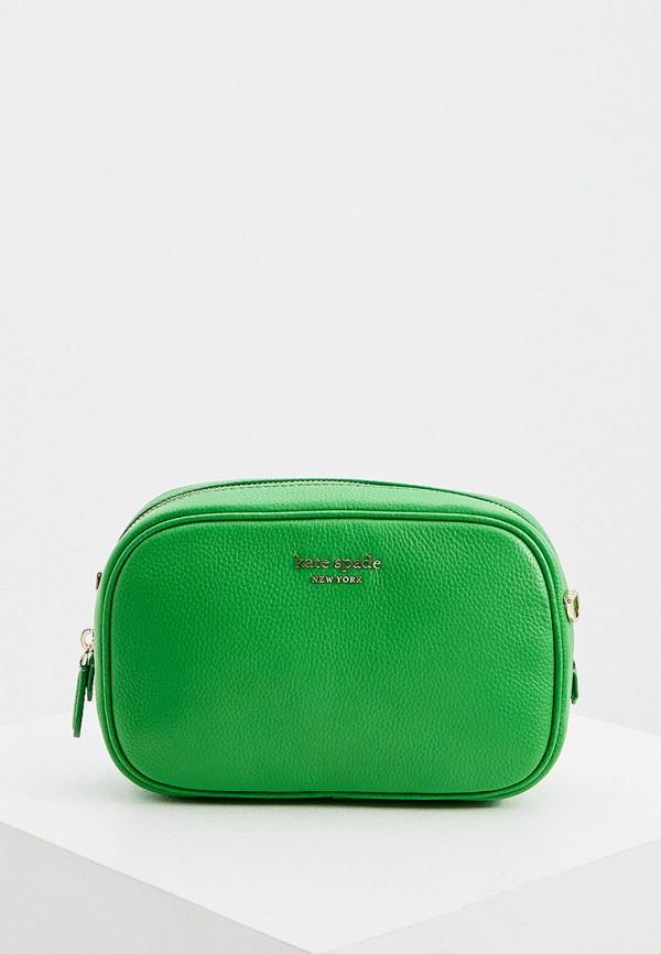 женская сумка через плечо kate spade, зеленая