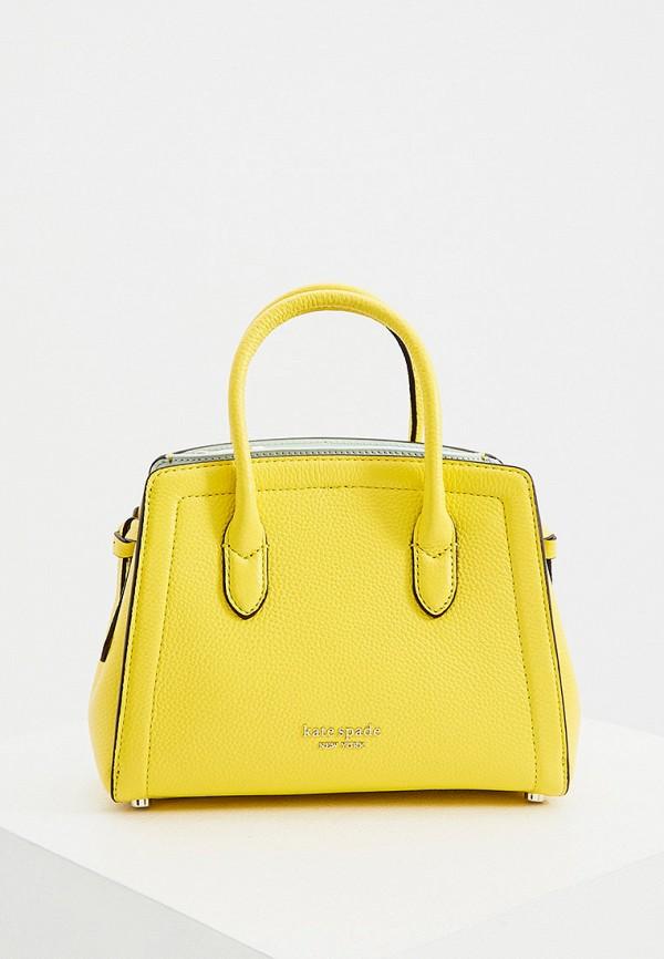 женская сумка с ручками kate spade, желтая