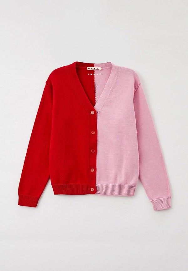 кардиган marni для девочки, розовый