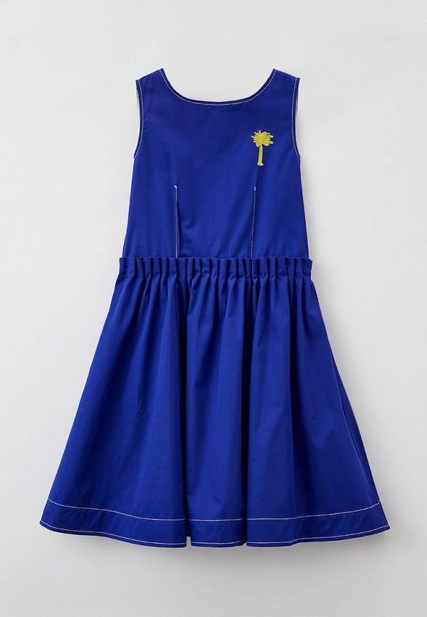 повседневные платье marni для девочки, синее
