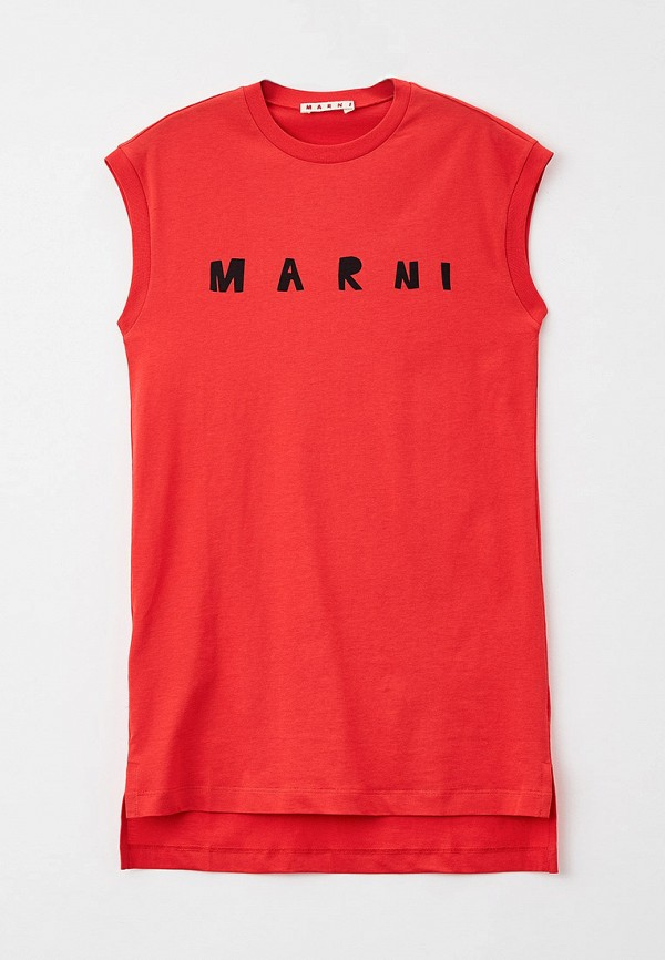 повседневные платье marni для девочки, красное