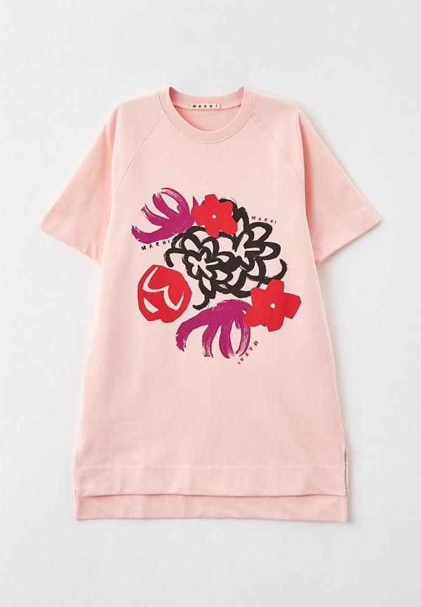 повседневные платье marni для девочки, розовое