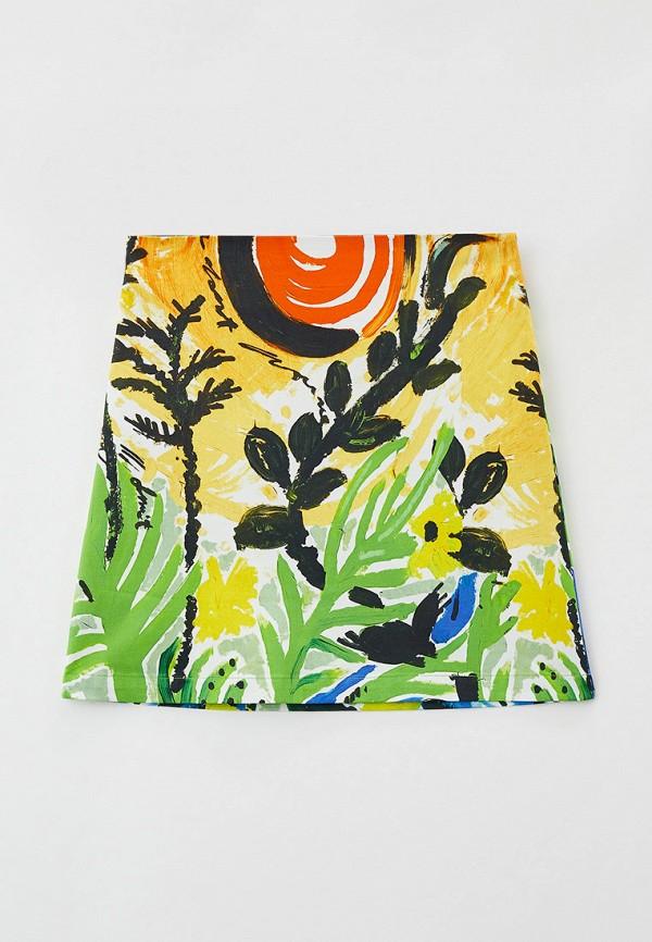 юбка marni для девочки, разноцветная