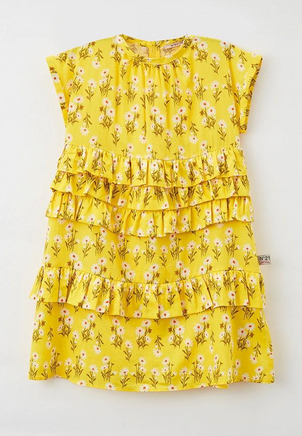 повседневные платье n21 для девочки, желтое