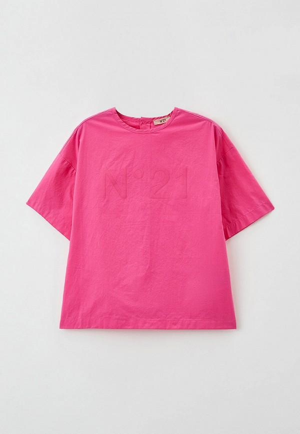 блузка n21 для девочки, розовая
