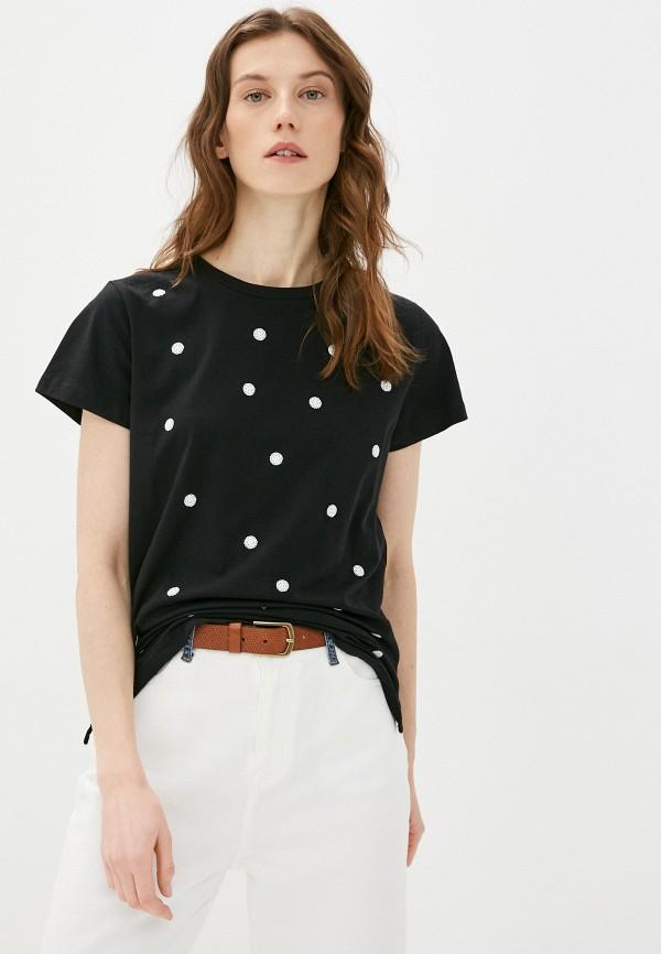 женская футболка bulmer, черная