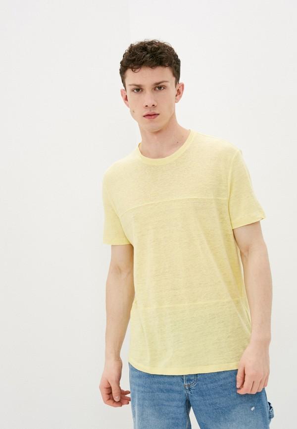 мужская футболка с коротким рукавом strellson, желтая