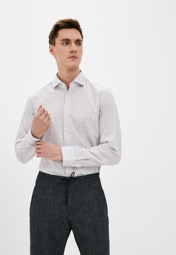 мужская рубашка с длинным рукавом strellson, бежевая