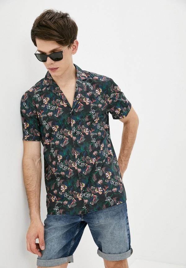 мужская рубашка с коротким рукавом strellson, разноцветная