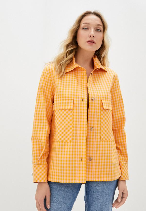 женская рубашка с длинным рукавом joop!, оранжевая