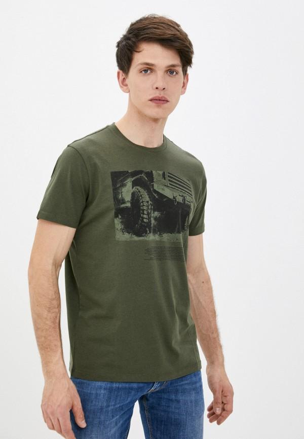 мужская футболка с коротким рукавом strellson, хаки