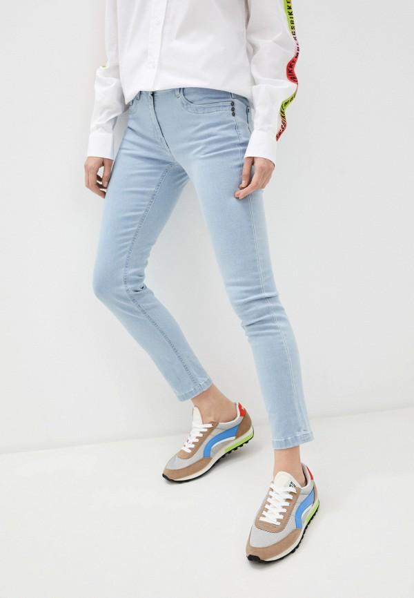 женские джинсы скинни bikkembergs, голубые