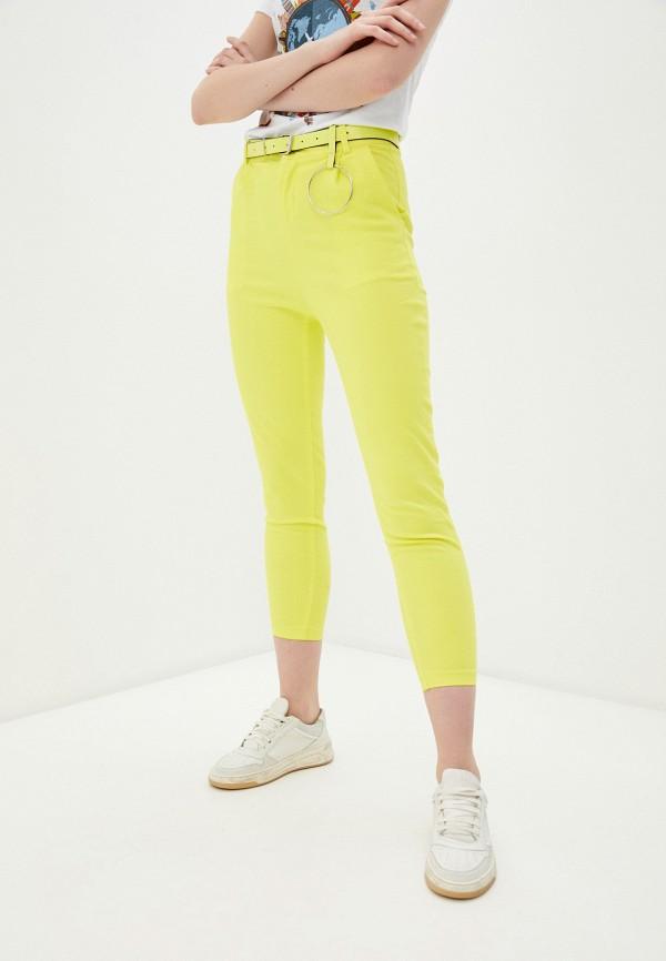 женские повседневные брюки nerouge, желтые