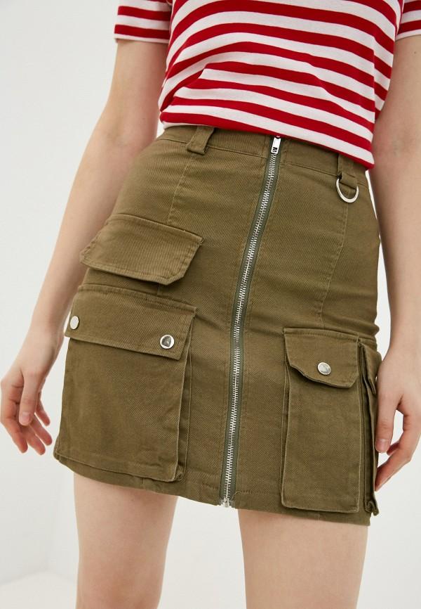женская джинсовые юбка nerouge, хаки