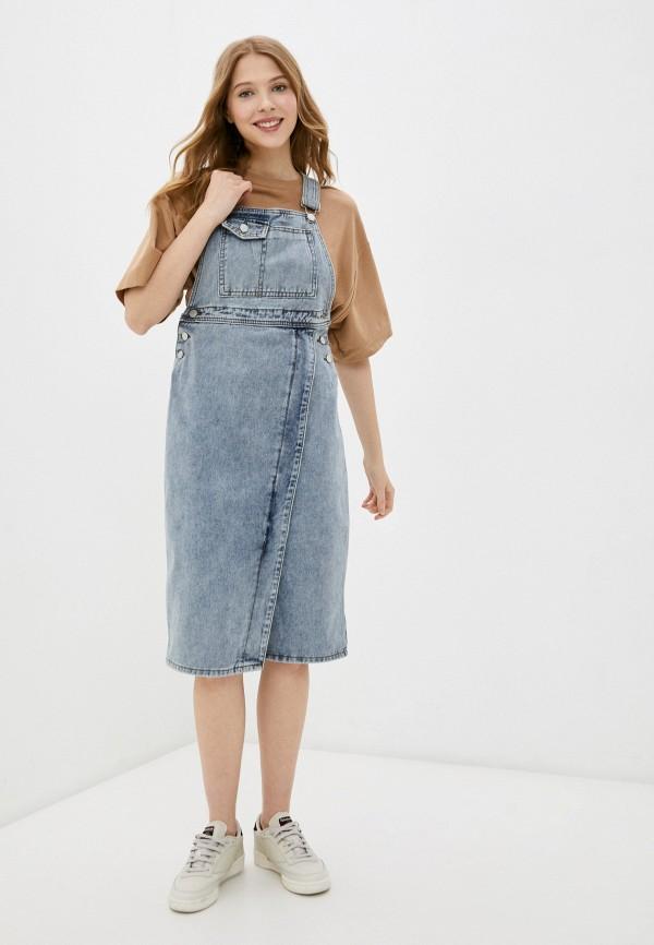 женский джинсовые комбинезон nerouge, голубой
