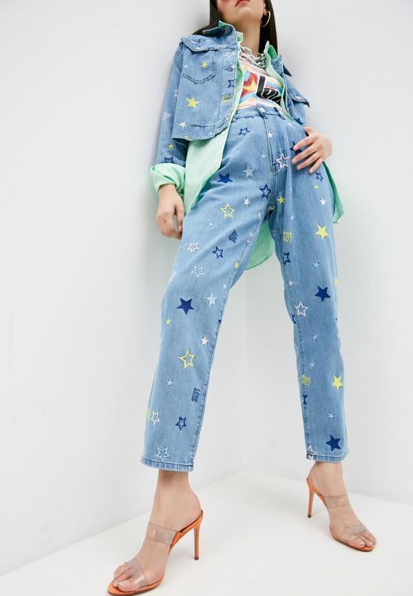 женские прямые джинсы love moschino, голубые