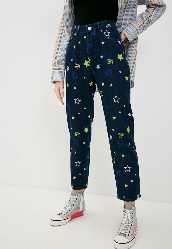 женские прямые джинсы love moschino, синие