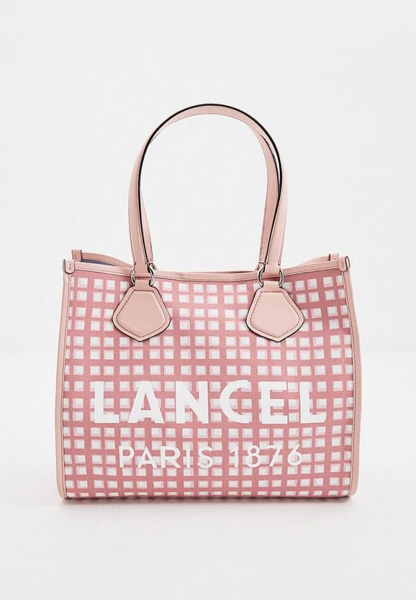 женская сумка-шоперы lancel, розовая