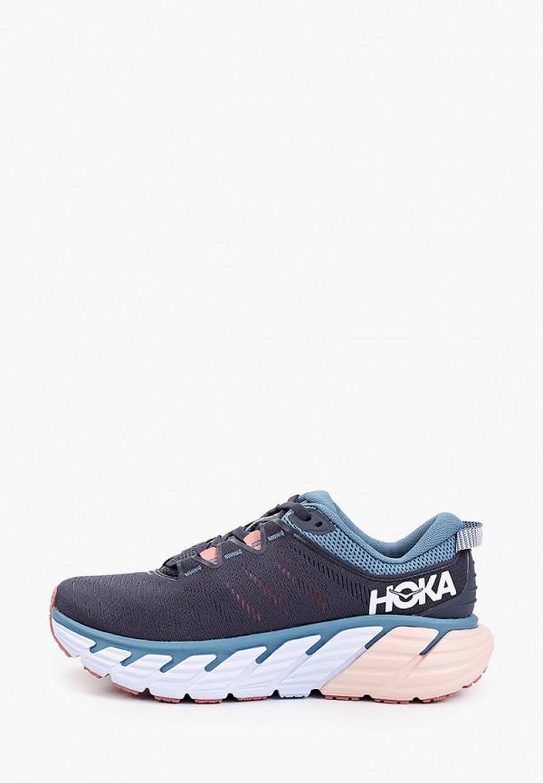 женские низкие кроссовки hoka one one, синие