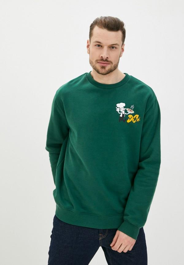 мужской свитшот dc shoes, зеленый