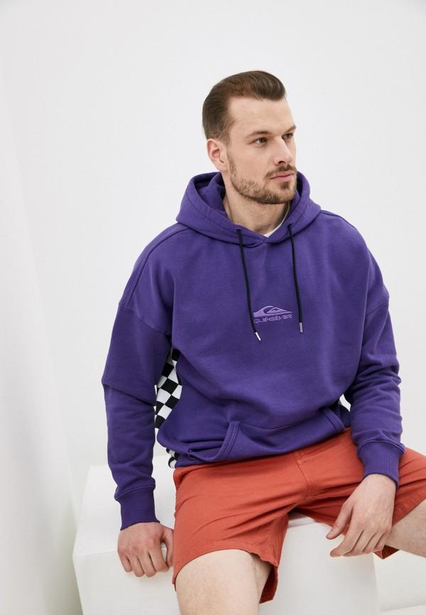 мужские худи quiksilver, фиолетовые