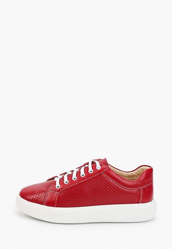 женские низкие ботинки der spur, красные