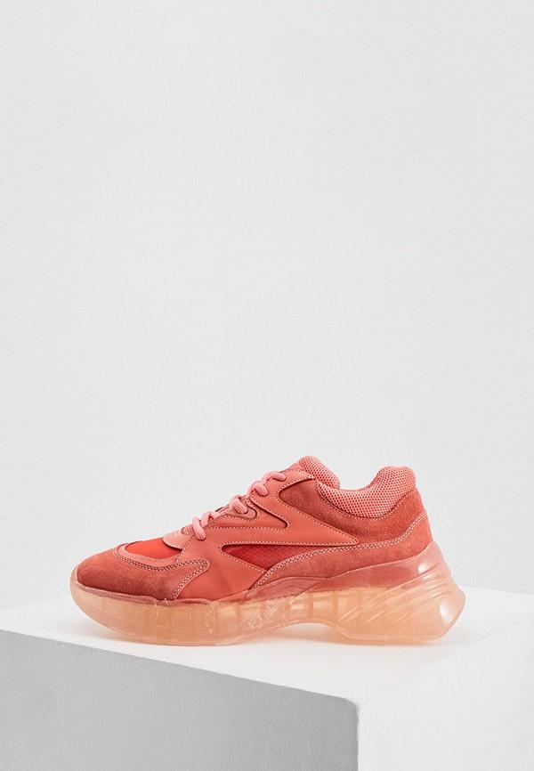 женские кроссовки pinko, розовые