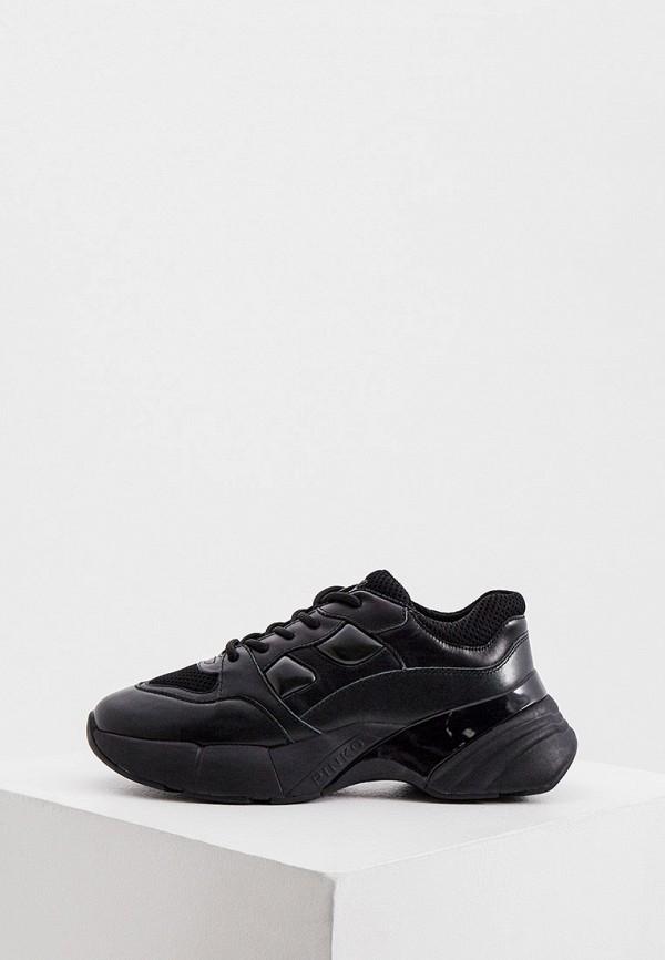 женские низкие кроссовки pinko, черные