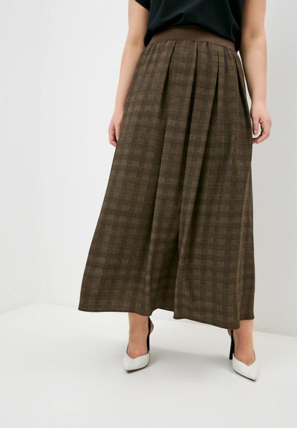 женская юбка elena miro, коричневая