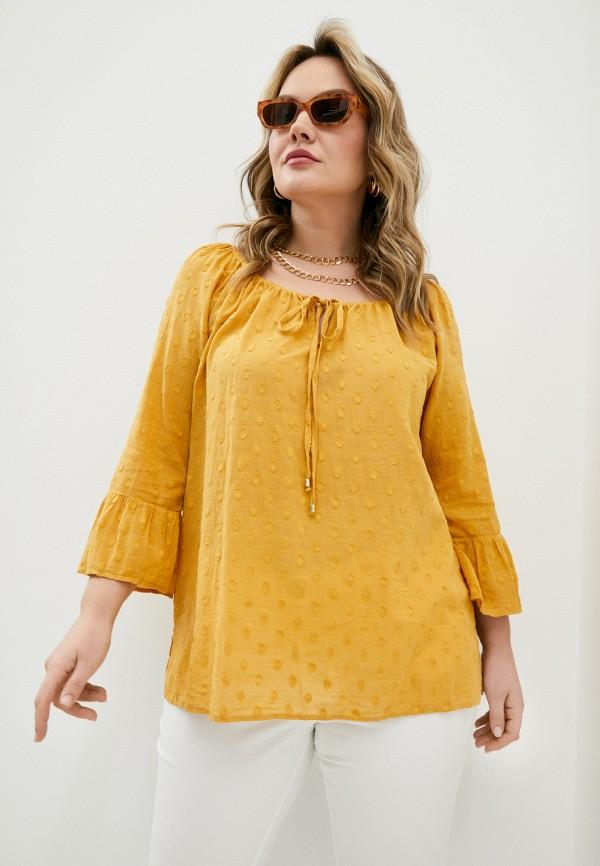 женская блузка elena miro, желтая
