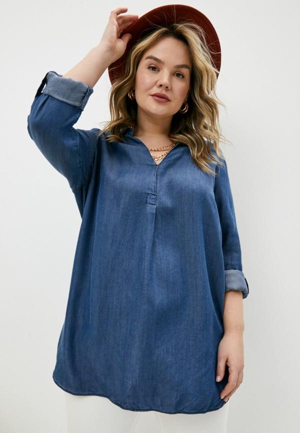 женская блузка elena miro, синяя