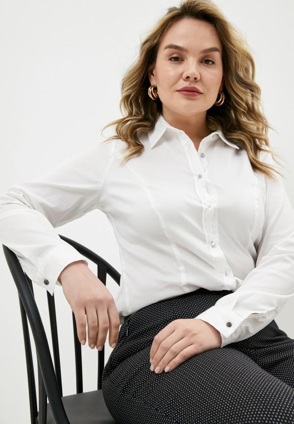 женская рубашка с длинным рукавом elena miro, белая