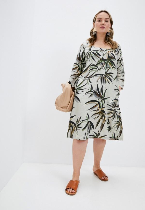 женское повседневные платье elena miro, бежевое
