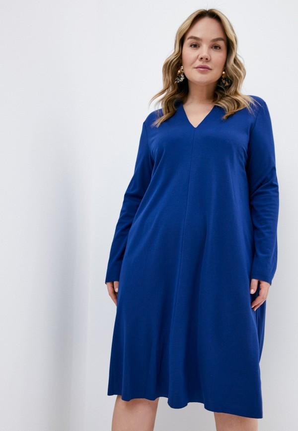 женское повседневные платье elena miro, синее