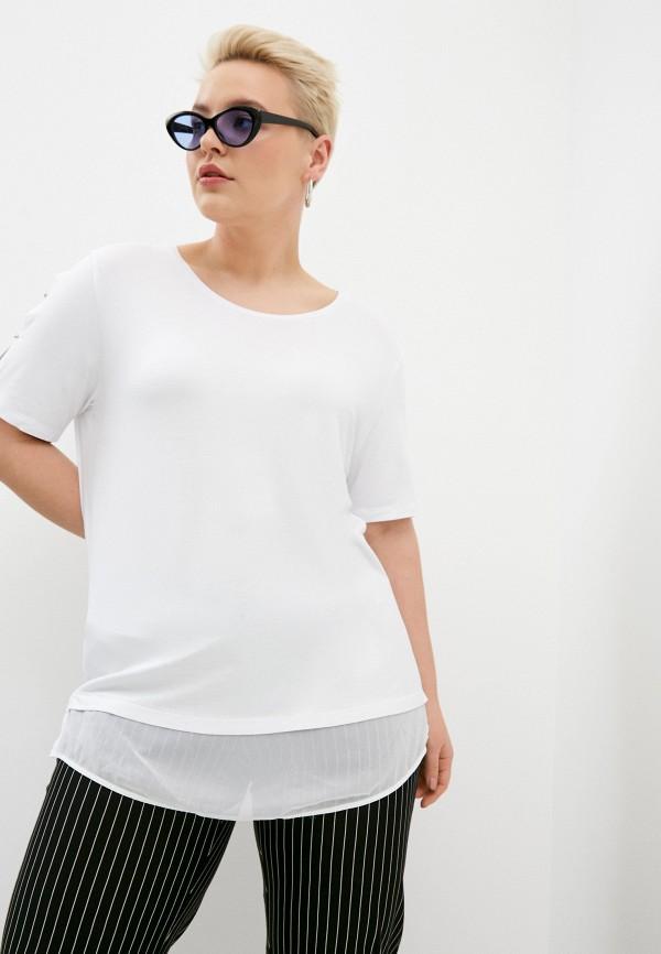 женская футболка elena miro, белая