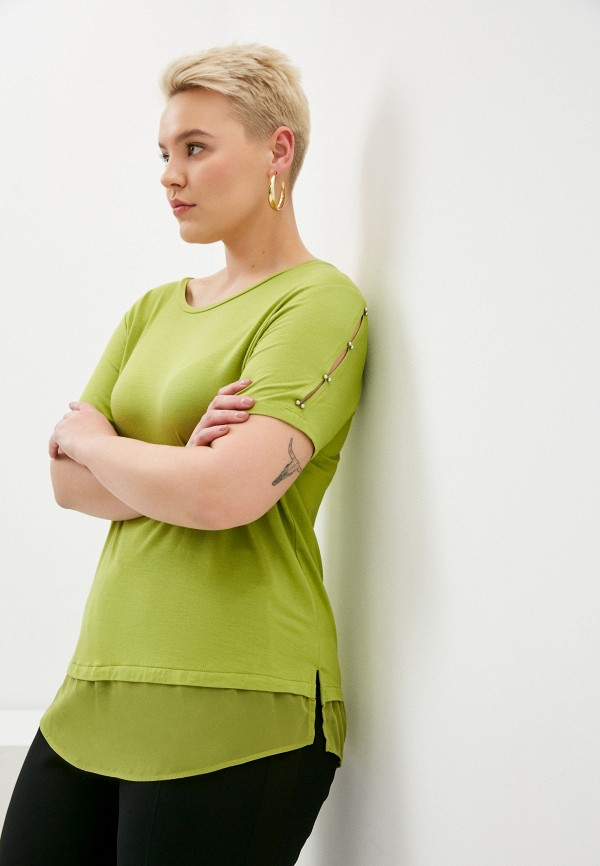 женская футболка elena miro, зеленая
