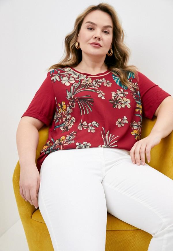женская футболка elena miro, красная