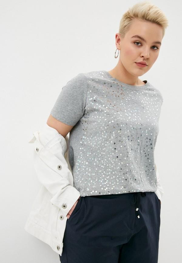 женская футболка elena miro, серая