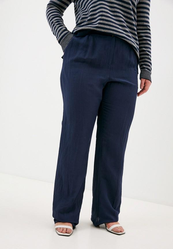 женские прямые брюки elena miro, синие