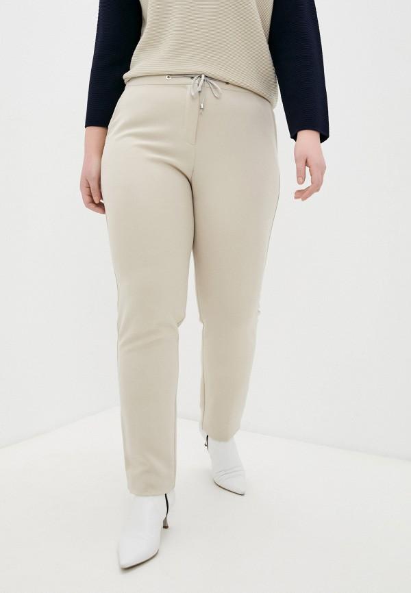 женские зауженные брюки elena miro, бежевые
