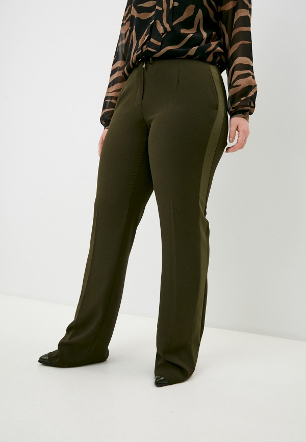 женские классические брюки elena miro, хаки