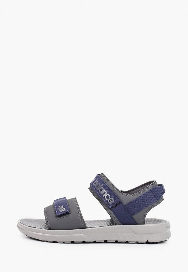 мужские сандалии new balance, серые